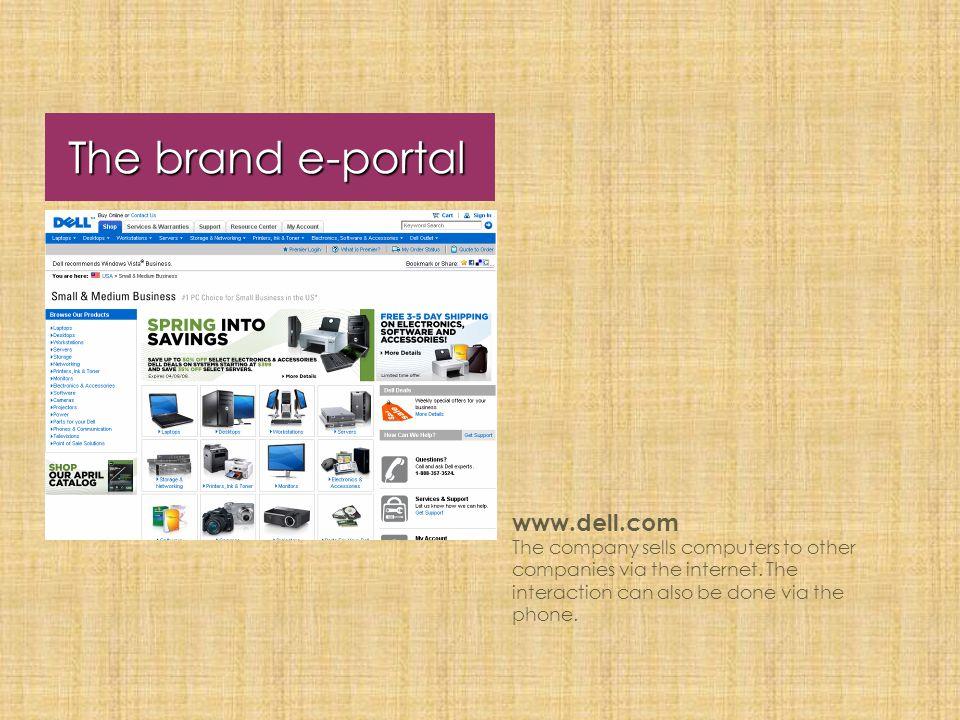 The brand e-portal www.dell.com