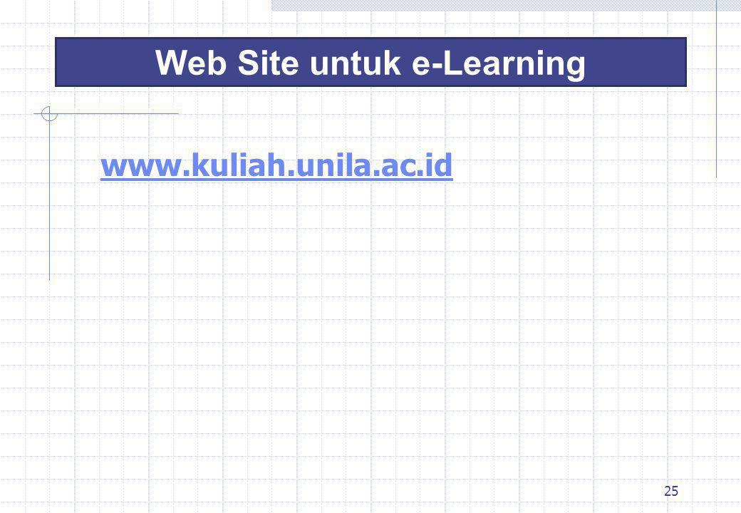 Web Site untuk e-Learning