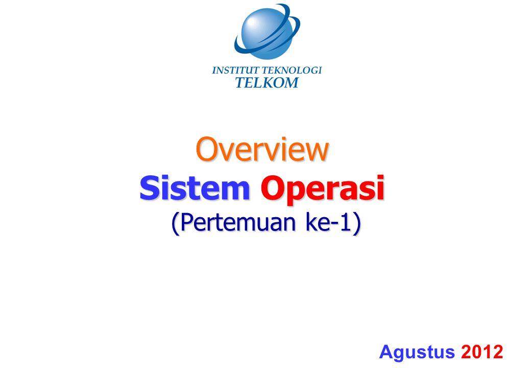 Sistem Operasi Adalah program yang mengatur eksekusi program aplikasi