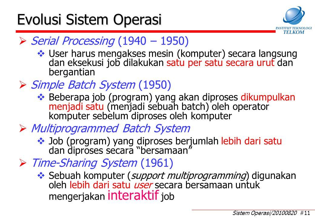 Contoh Evolusi Berbagai Sistem Operasi