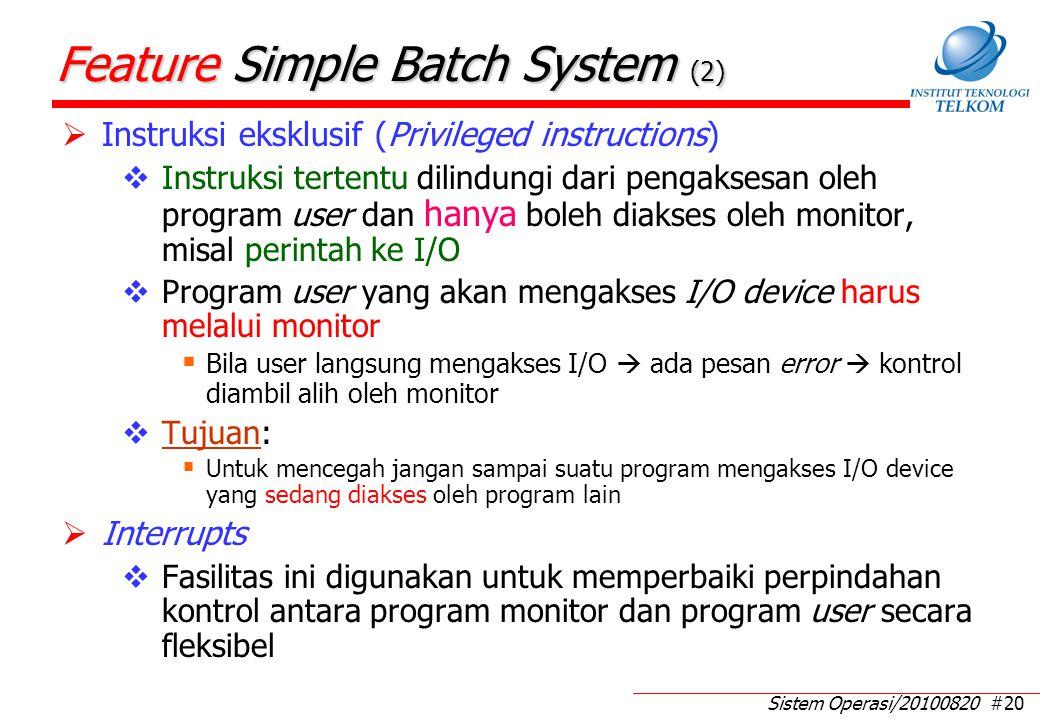 Mode pada Simple Batch System