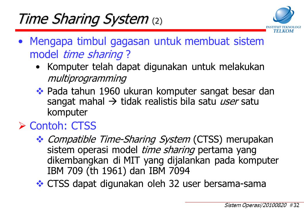Contoh Kasus Time Sharing System (1)