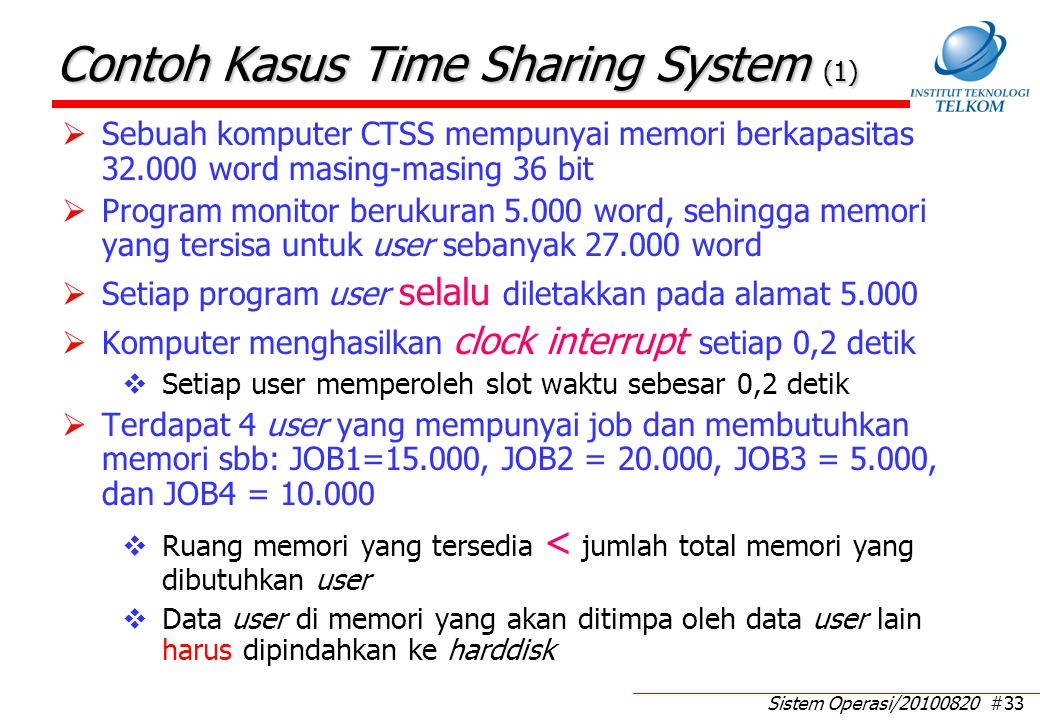 Contoh Kasus Time Sharing System (2)
