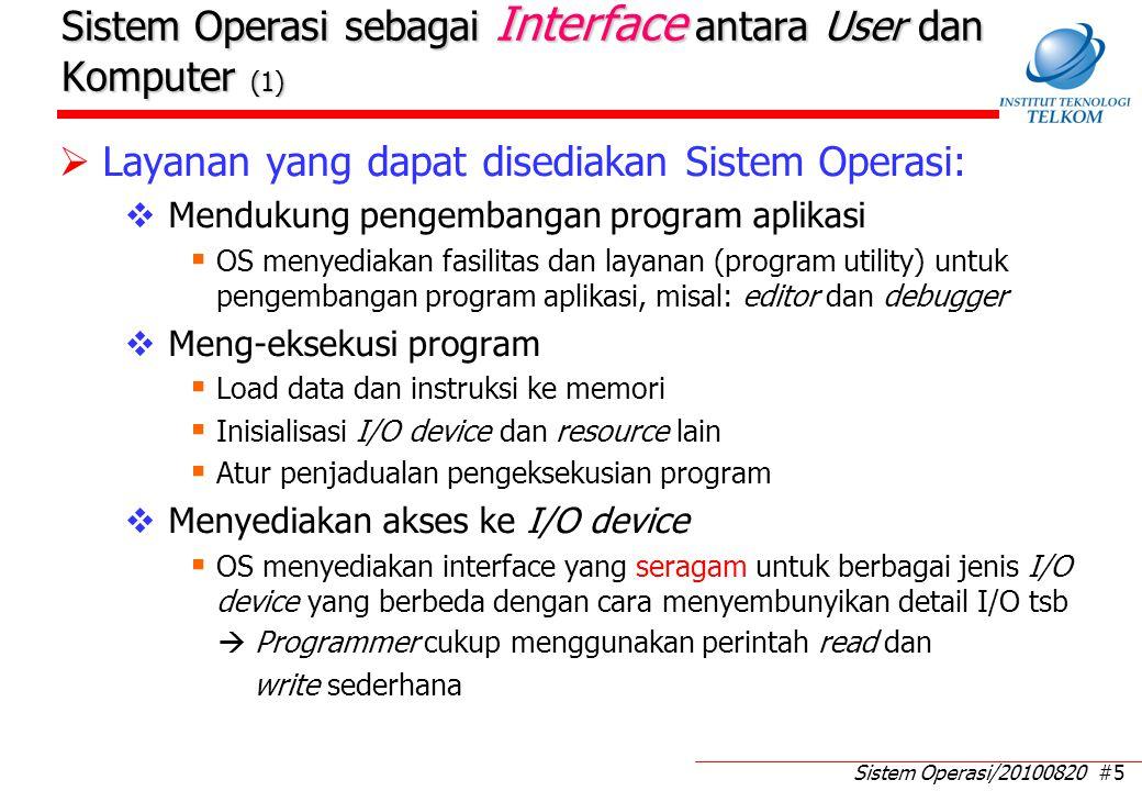 Sistem Operasi sebagai Interface antara User dan Komputer (2)
