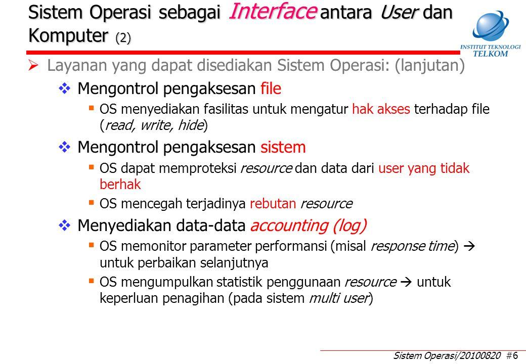 Sistem Operasi sebagai Interface antara User dan Komputer (3)