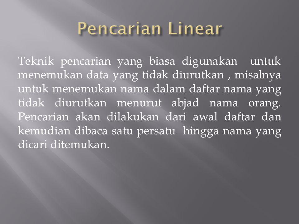 Pencarian Linear