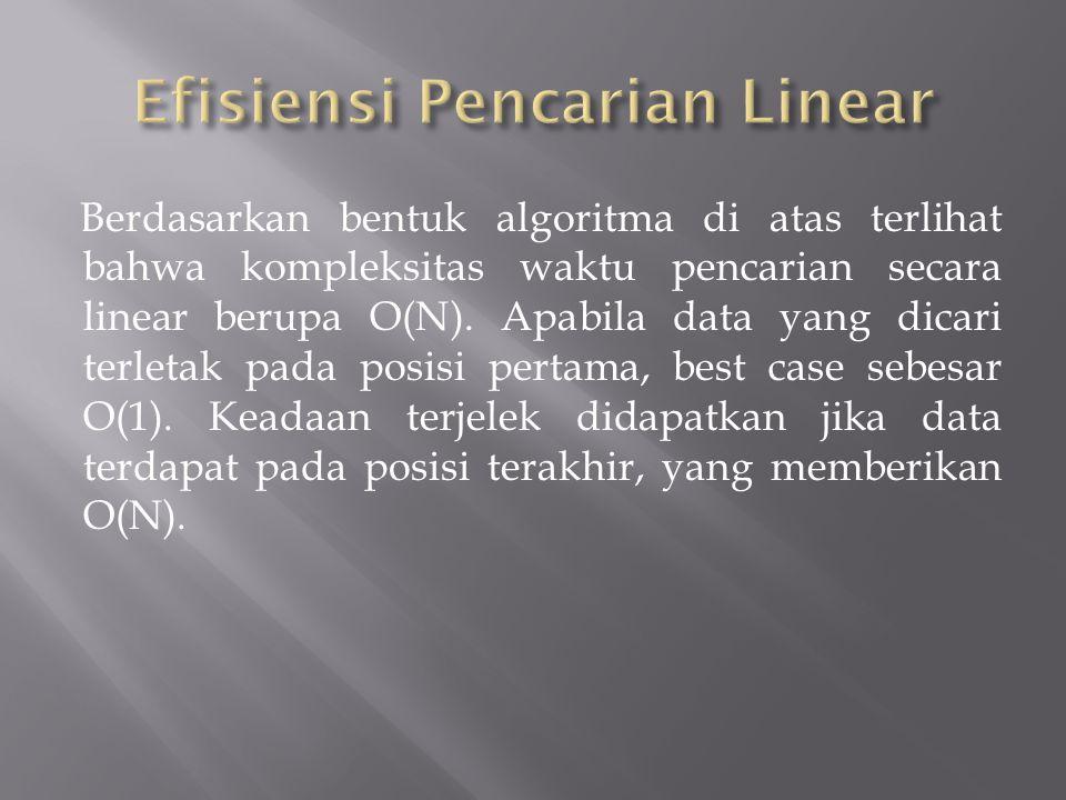 Efisiensi Pencarian Linear