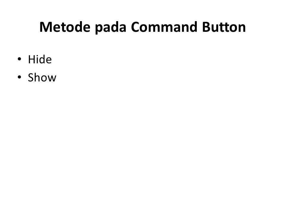 Metode pada Command Button