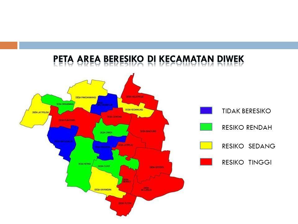 PETA AREA BERESIKO DI KECAMATAN DIWEK