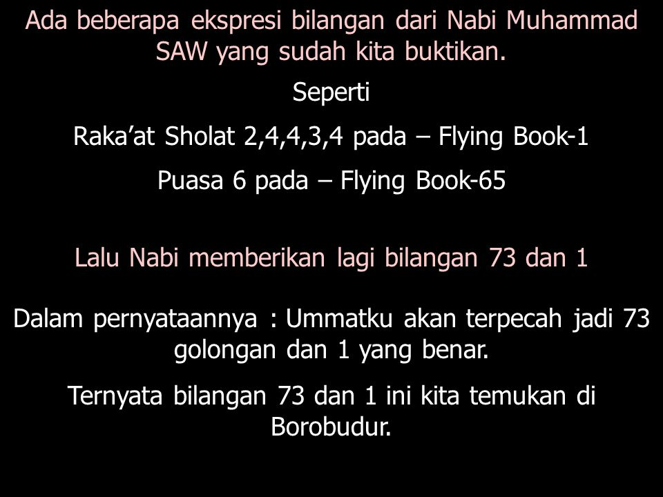 Raka'at Sholat 2,4,4,3,4 pada – Flying Book-1