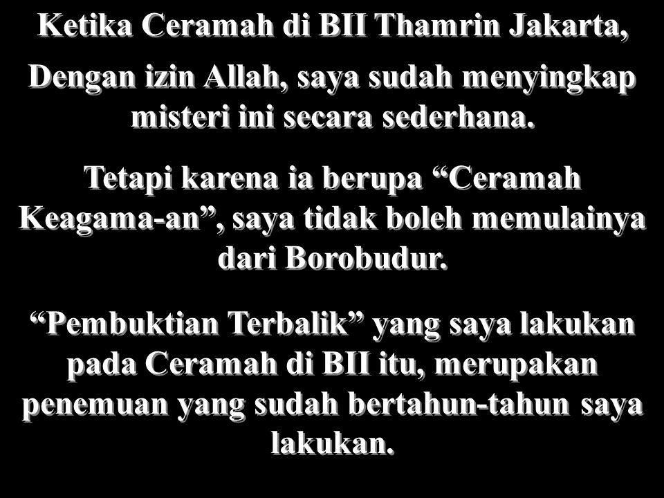 Ketika Ceramah di BII Thamrin Jakarta,