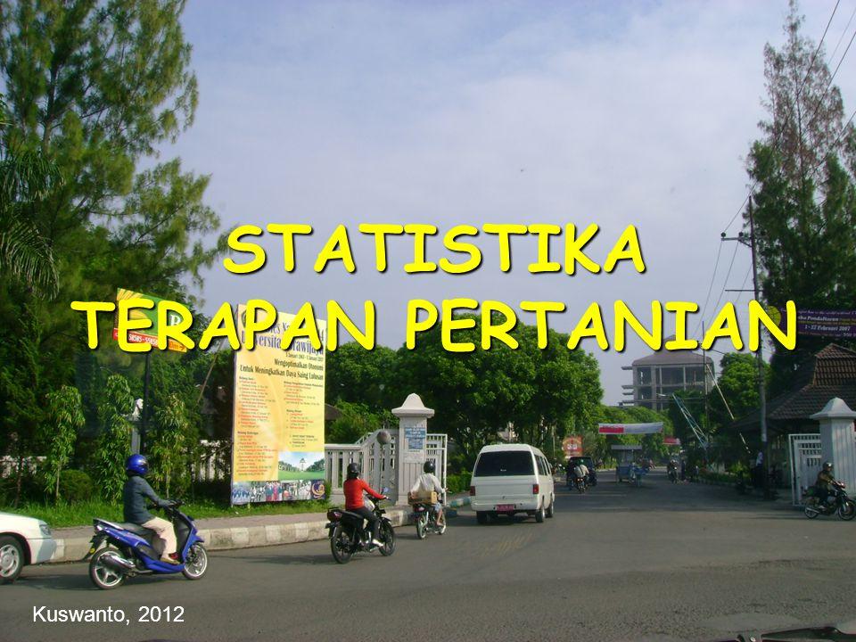 STATISTIKA TERAPAN PERTANIAN
