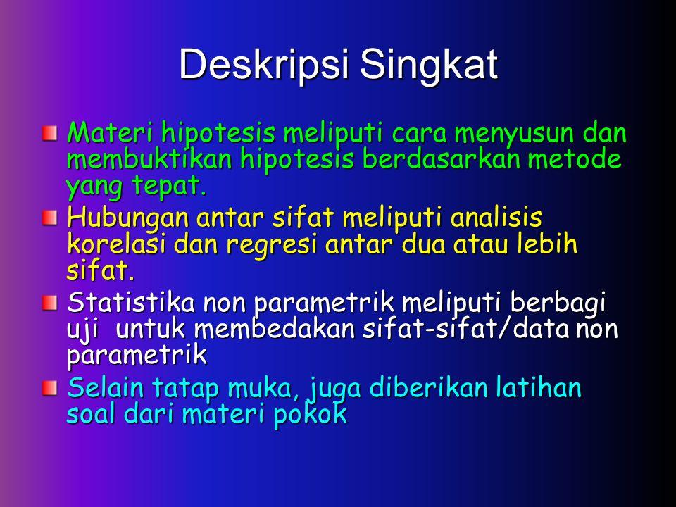 Deskripsi Singkat Materi hipotesis meliputi cara menyusun dan membuktikan hipotesis berdasarkan metode yang tepat.