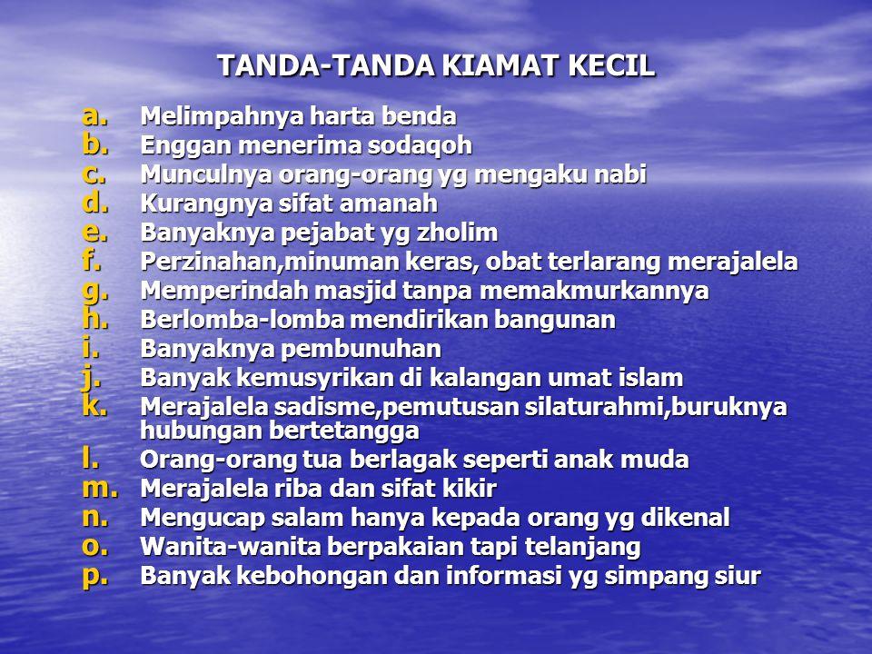 TANDA-TANDA KIAMAT KECIL