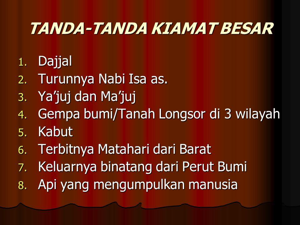TANDA-TANDA KIAMAT BESAR
