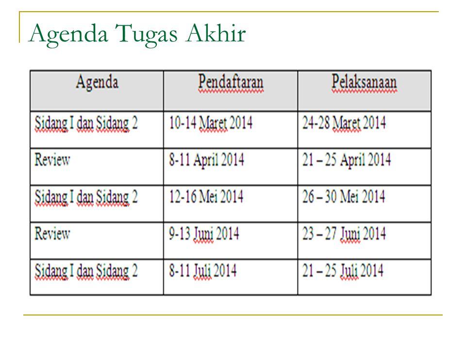 Agenda Tugas Akhir