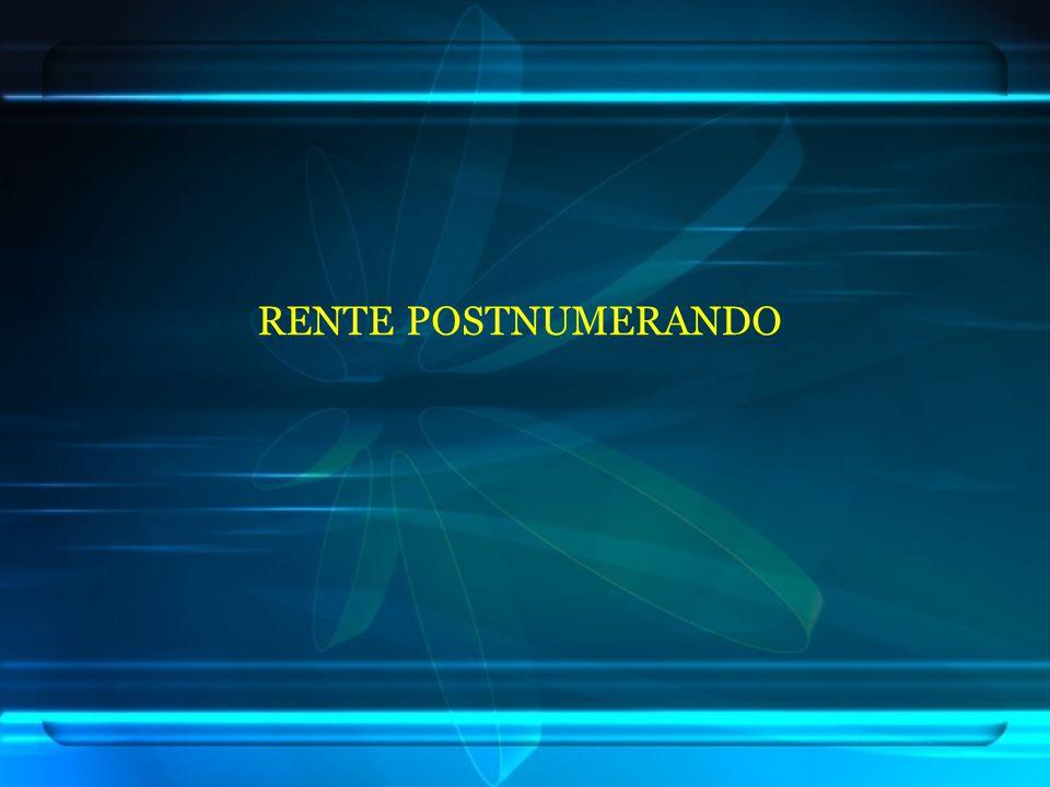 RENTE POSTNUMERANDO