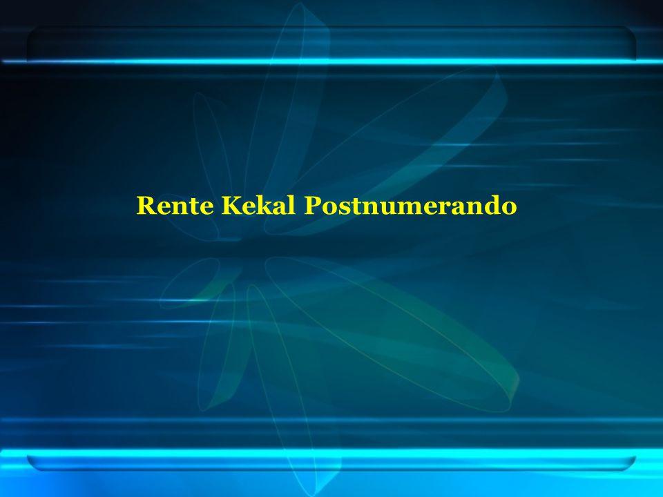 Rente Kekal Postnumerando