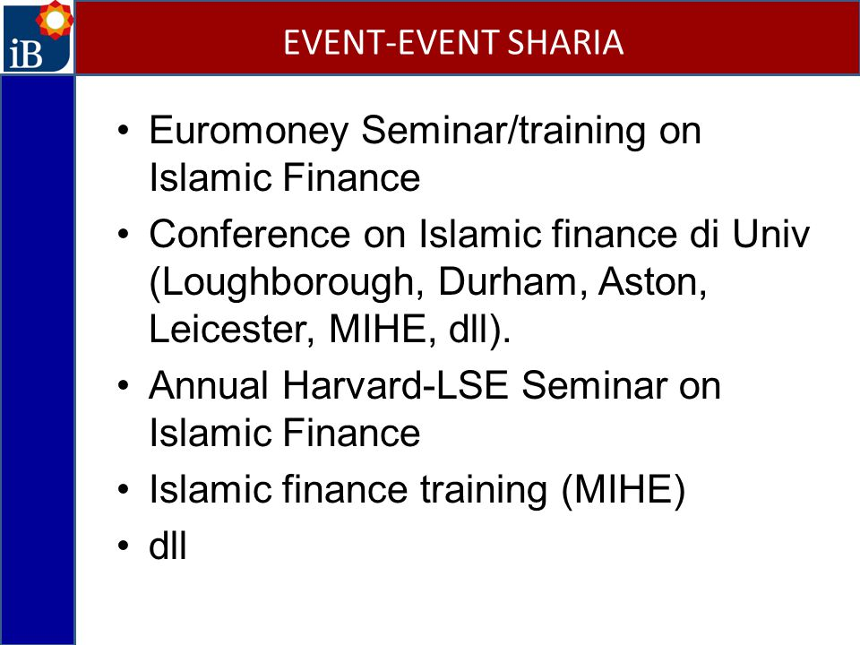 Euromoney Seminar/training on Islamic Finance