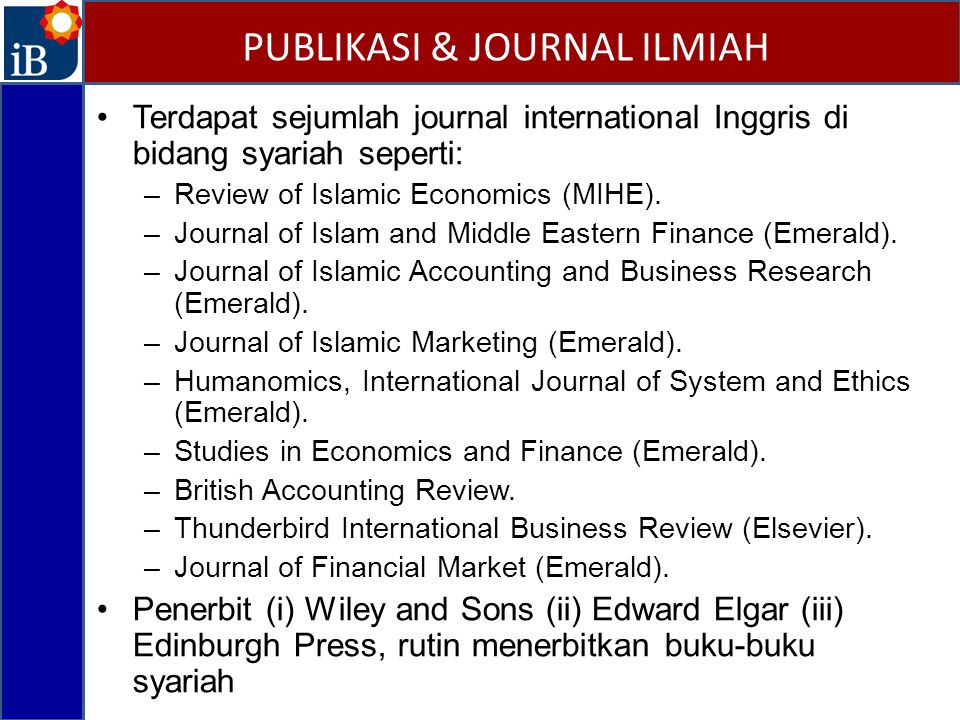 PUBLIKASI & JOURNAL ILMIAH