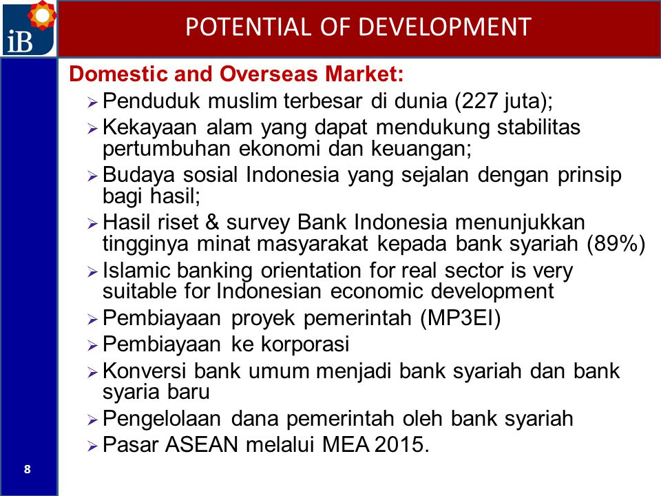 POTENTIAL OF DEVELOPMENT