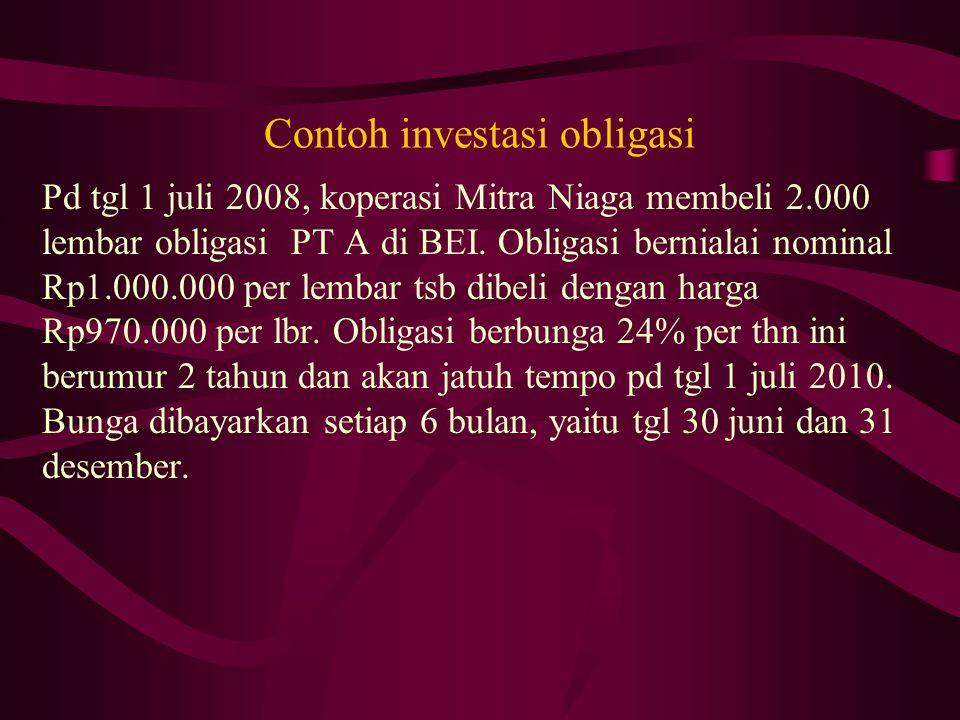 Contoh investasi obligasi