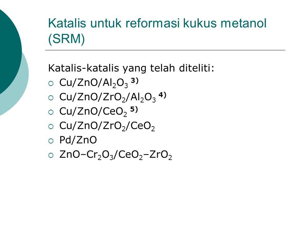 Katalis untuk reformasi kukus metanol (SRM)