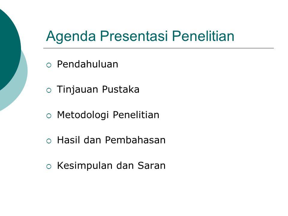 Agenda Presentasi Penelitian