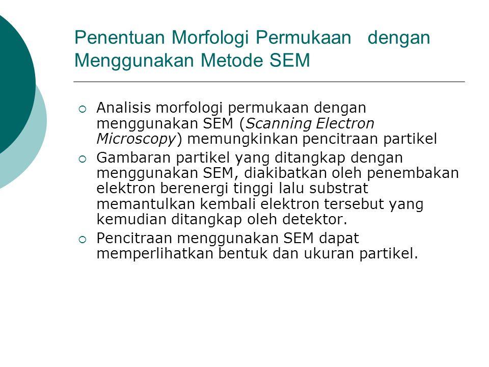 Penentuan Morfologi Permukaan dengan Menggunakan Metode SEM