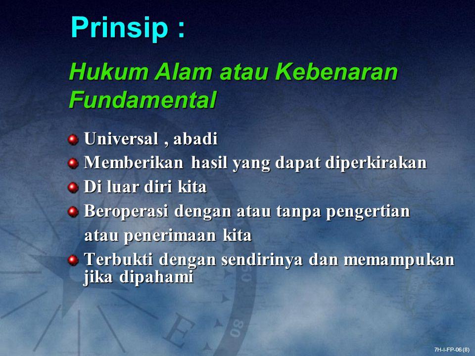 Prinsip : Hukum Alam atau Kebenaran Fundamental Universal , abadi