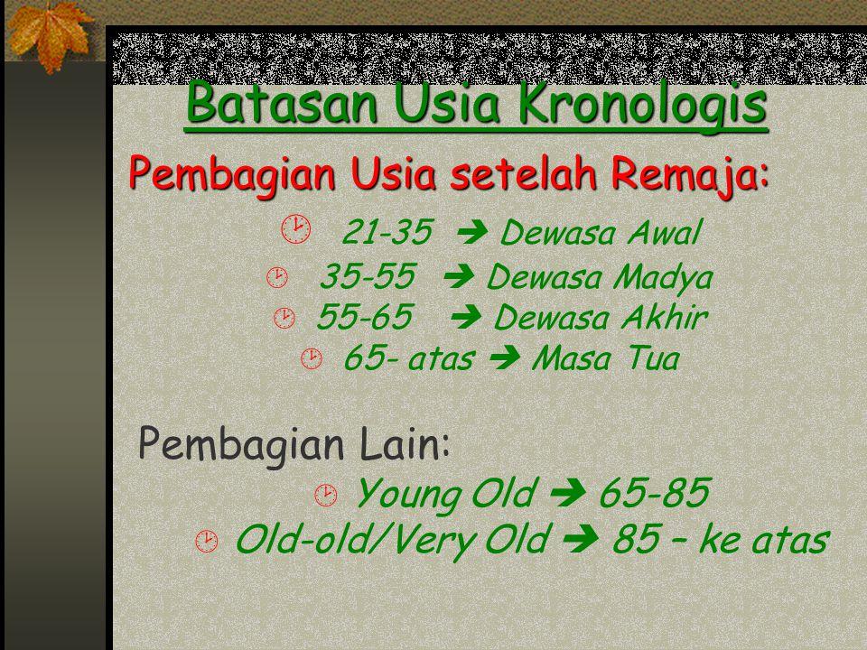 Batasan Usia Kronologis