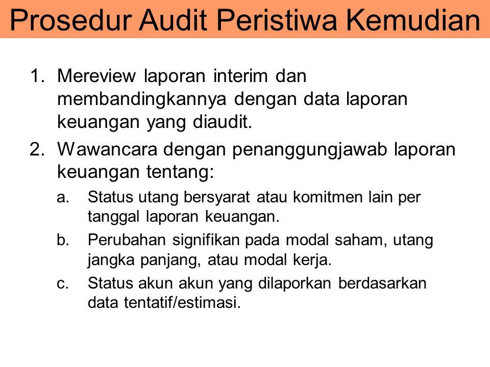 Prosedur Audit Peristiwa Kemudian