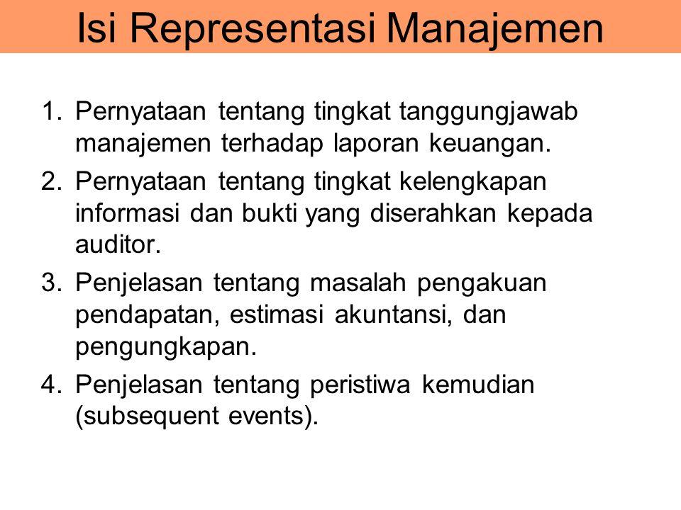 Isi Representasi Manajemen