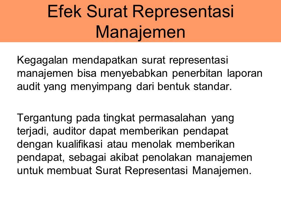 Efek Surat Representasi Manajemen
