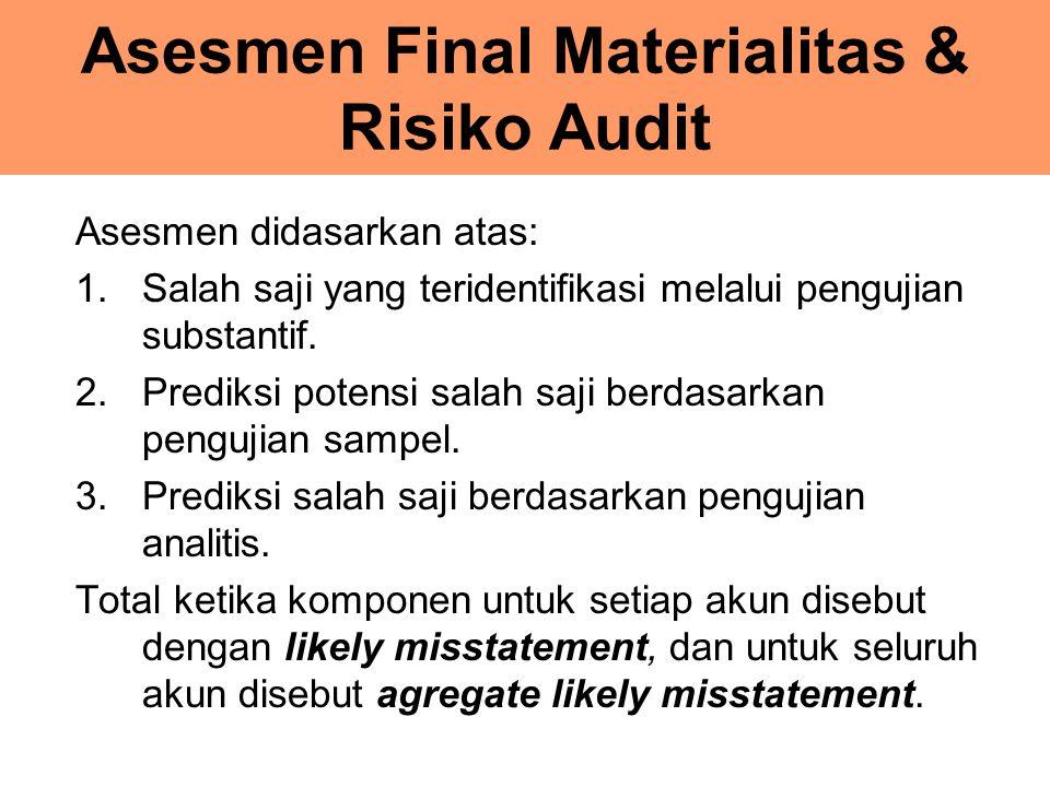 Asesmen Final Materialitas & Risiko Audit