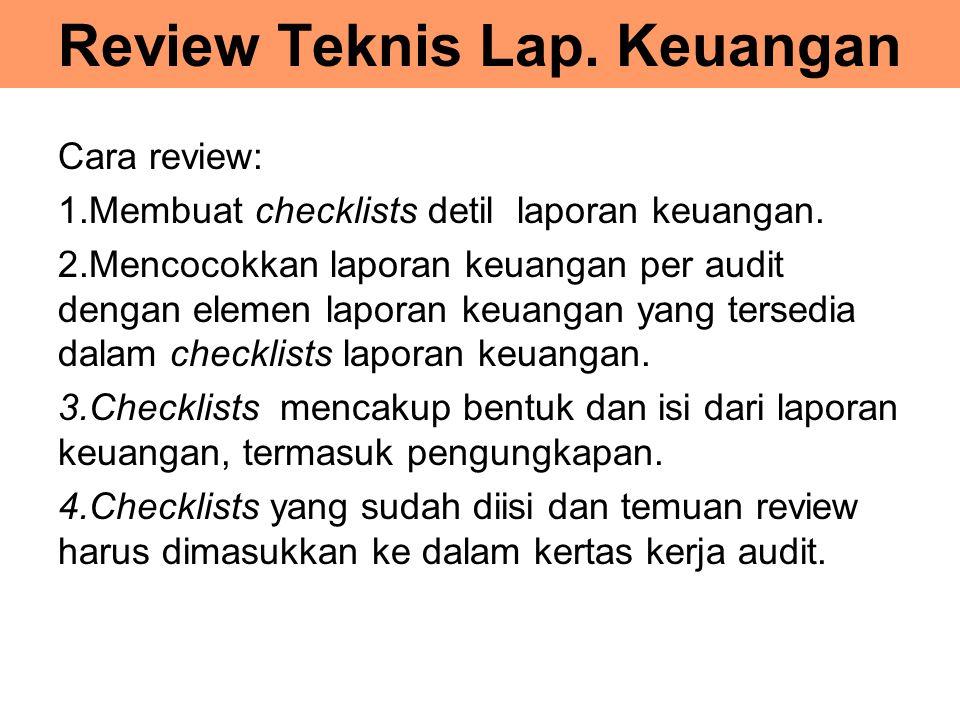 Review Teknis Lap. Keuangan