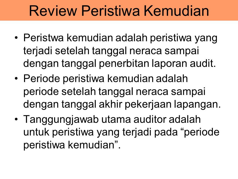Review Peristiwa Kemudian
