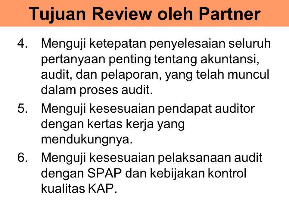 Tujuan Review oleh Partner