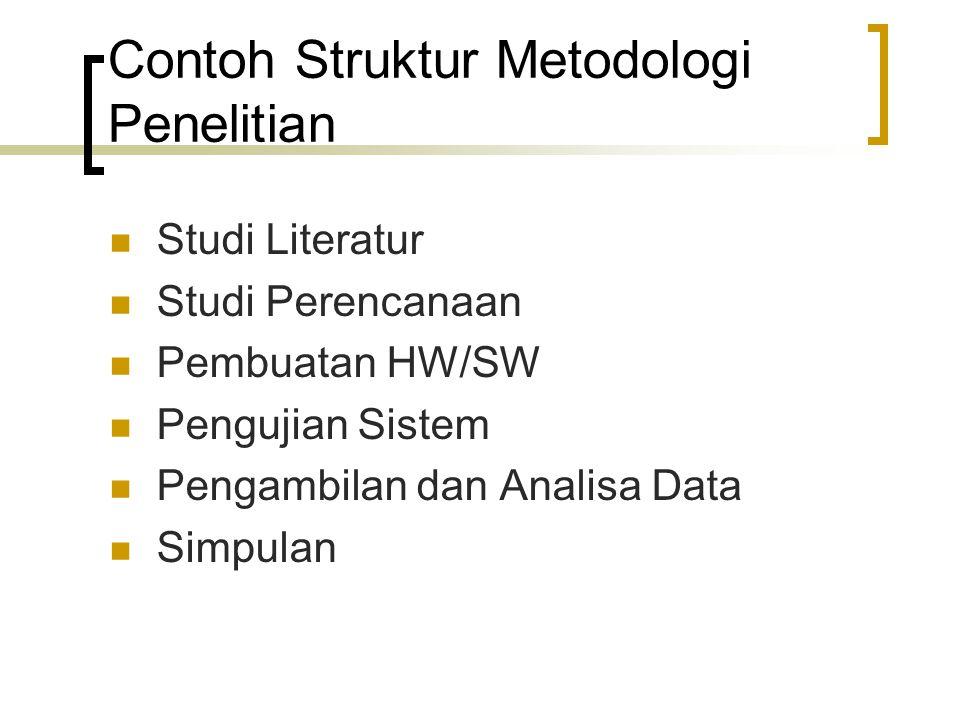 Contoh Struktur Metodologi Penelitian