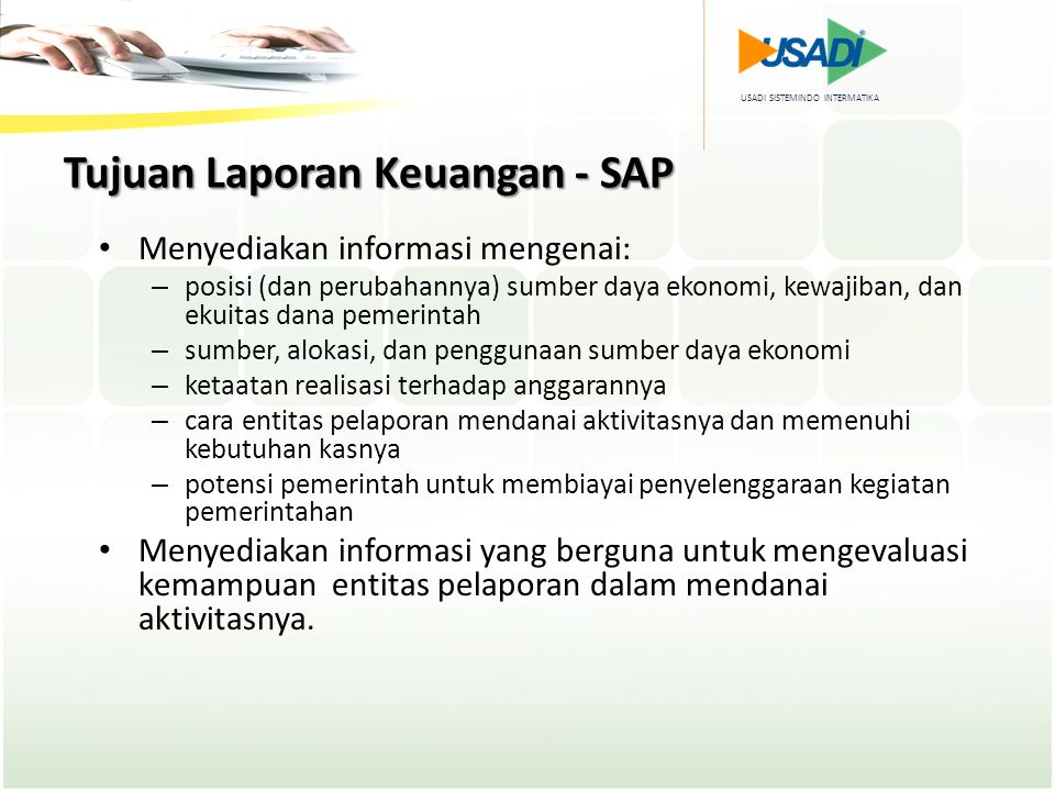 Tujuan Laporan Keuangan - SAP