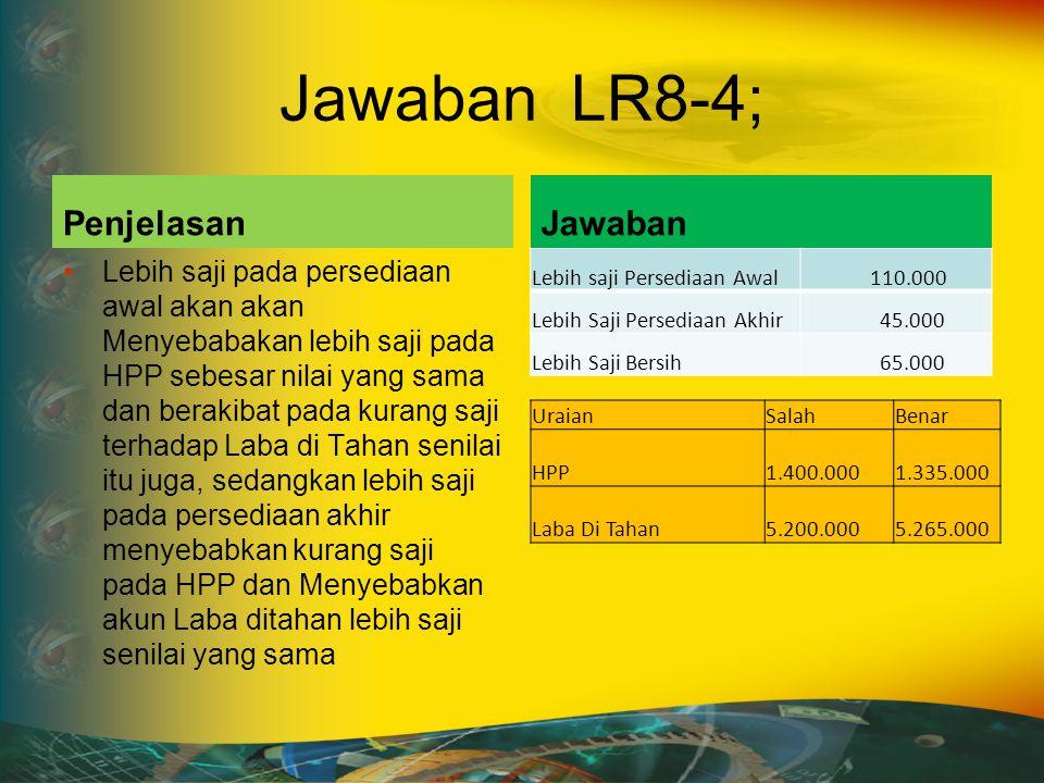 Jawaban LR8-4; Penjelasan Jawaban