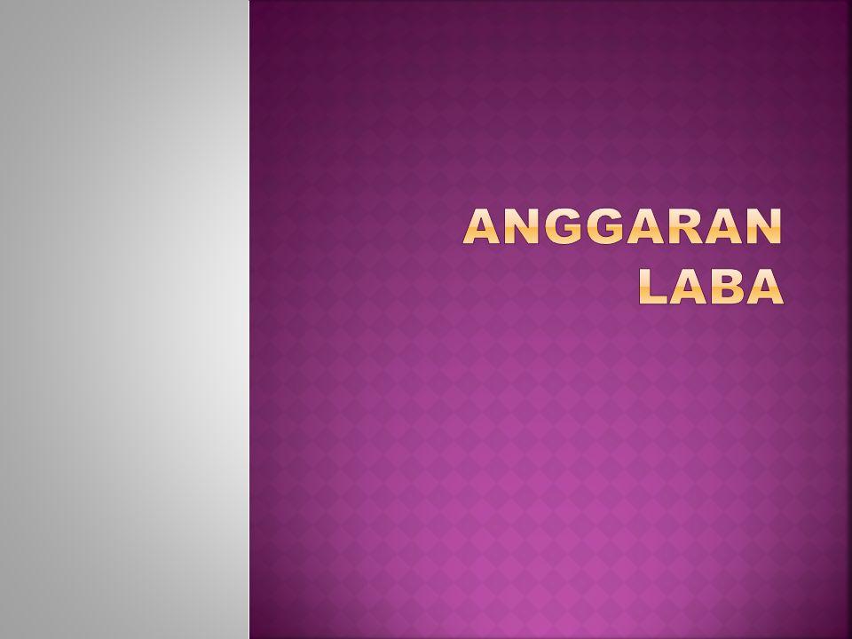 ANGGARAN LABA