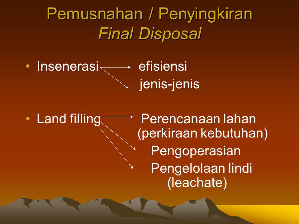 Pemusnahan / Penyingkiran Final Disposal