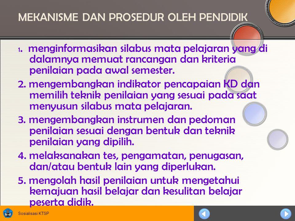 MEKANISME DAN PROSEDUR OLEH PENDIDIK