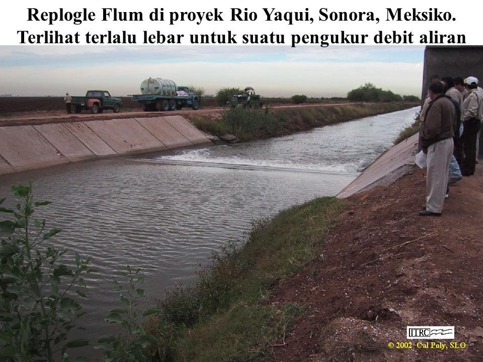 Replogle Flum di proyek Rio Yaqui, Sonora, Meksiko