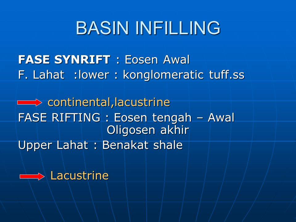 BASIN INFILLING FASE SYNRIFT : Eosen Awal