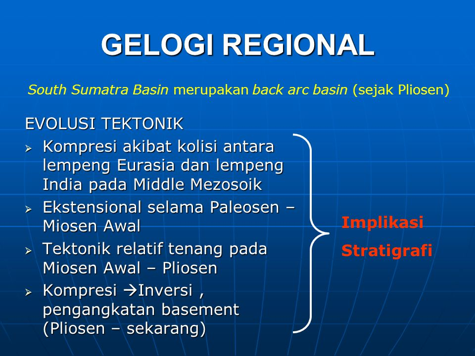 GELOGI REGIONAL EVOLUSI TEKTONIK