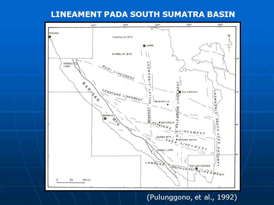 LINEAMENT PADA SOUTH SUMATRA BASIN
