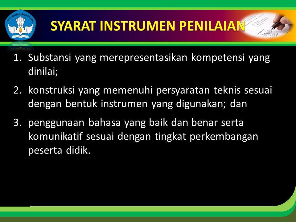 SYARAT INSTRUMEN PENILAIAN