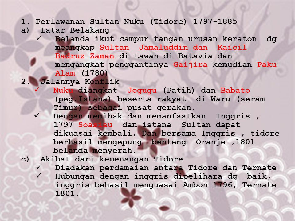 Perlawanan Sultan Nuku (Tidore) 1797-1885